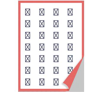 DIN-Format Aufkleber