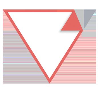 Dreieckaufkleber