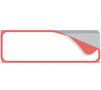 Rechteck schmal abgerundet  15 x 5 cm